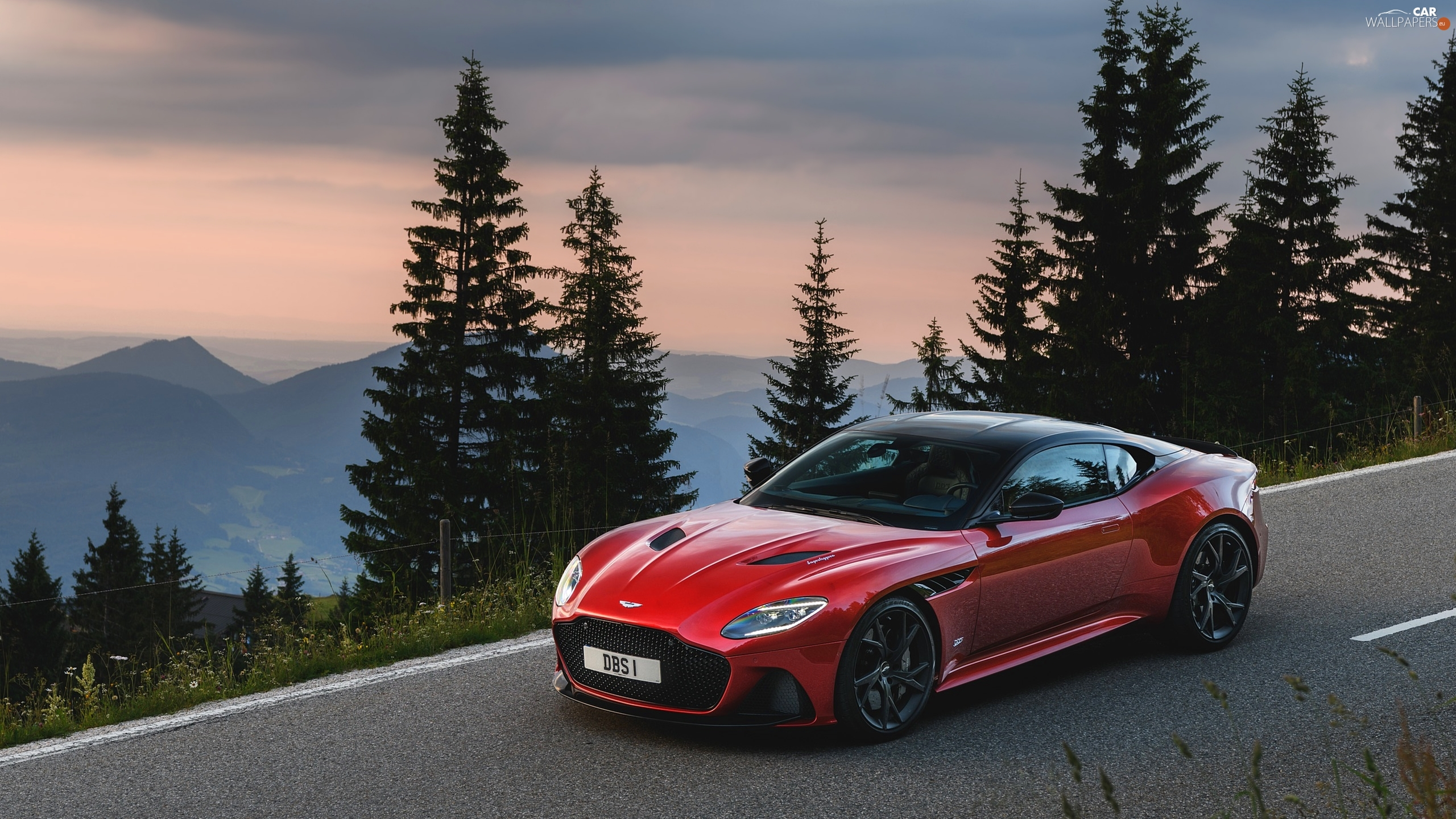 Red Superleggera Way Aston Martin Dbs Cars Wallpapers 2560x1440