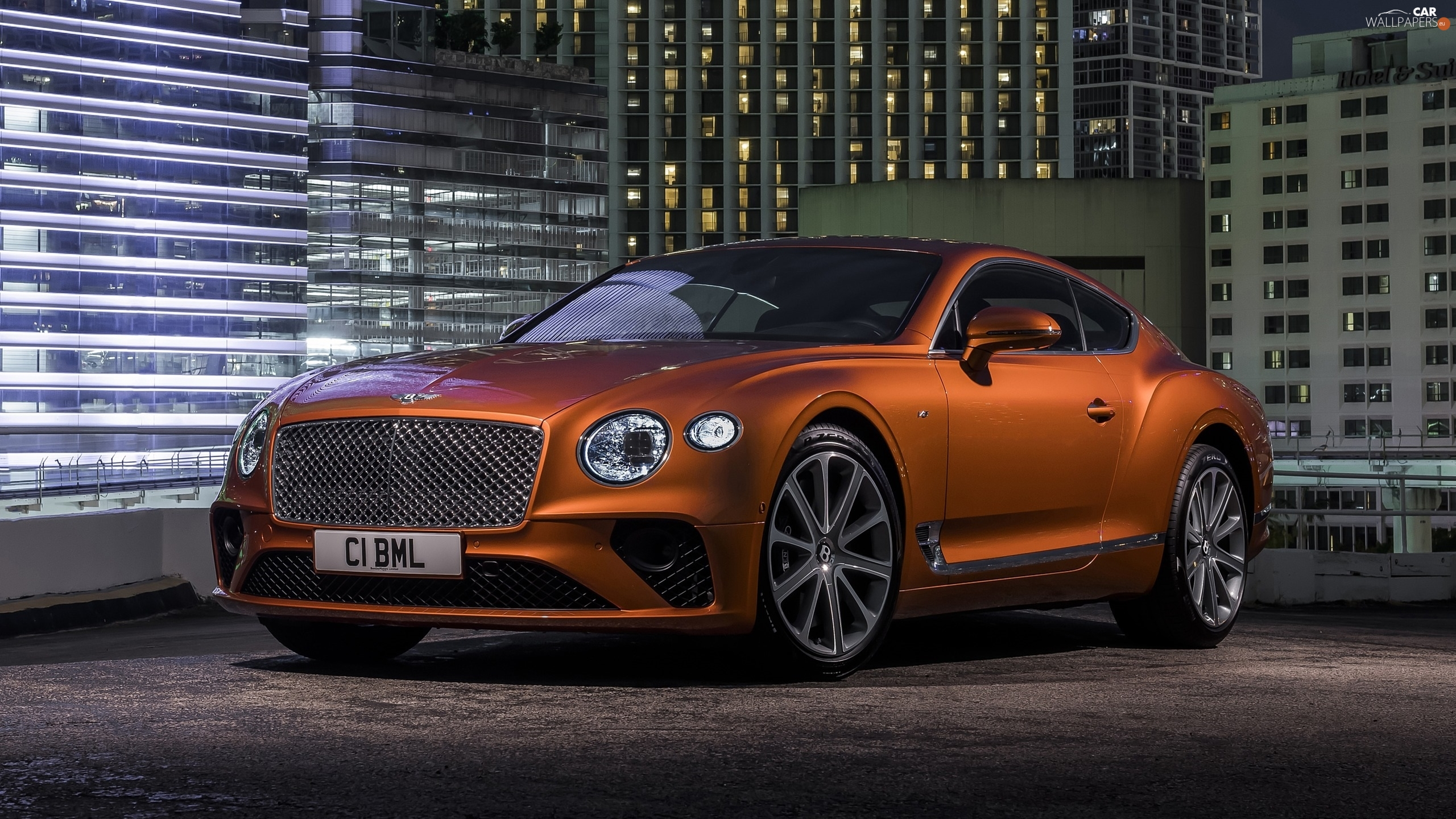 coupe, Brown, Bentley Continental GT V8