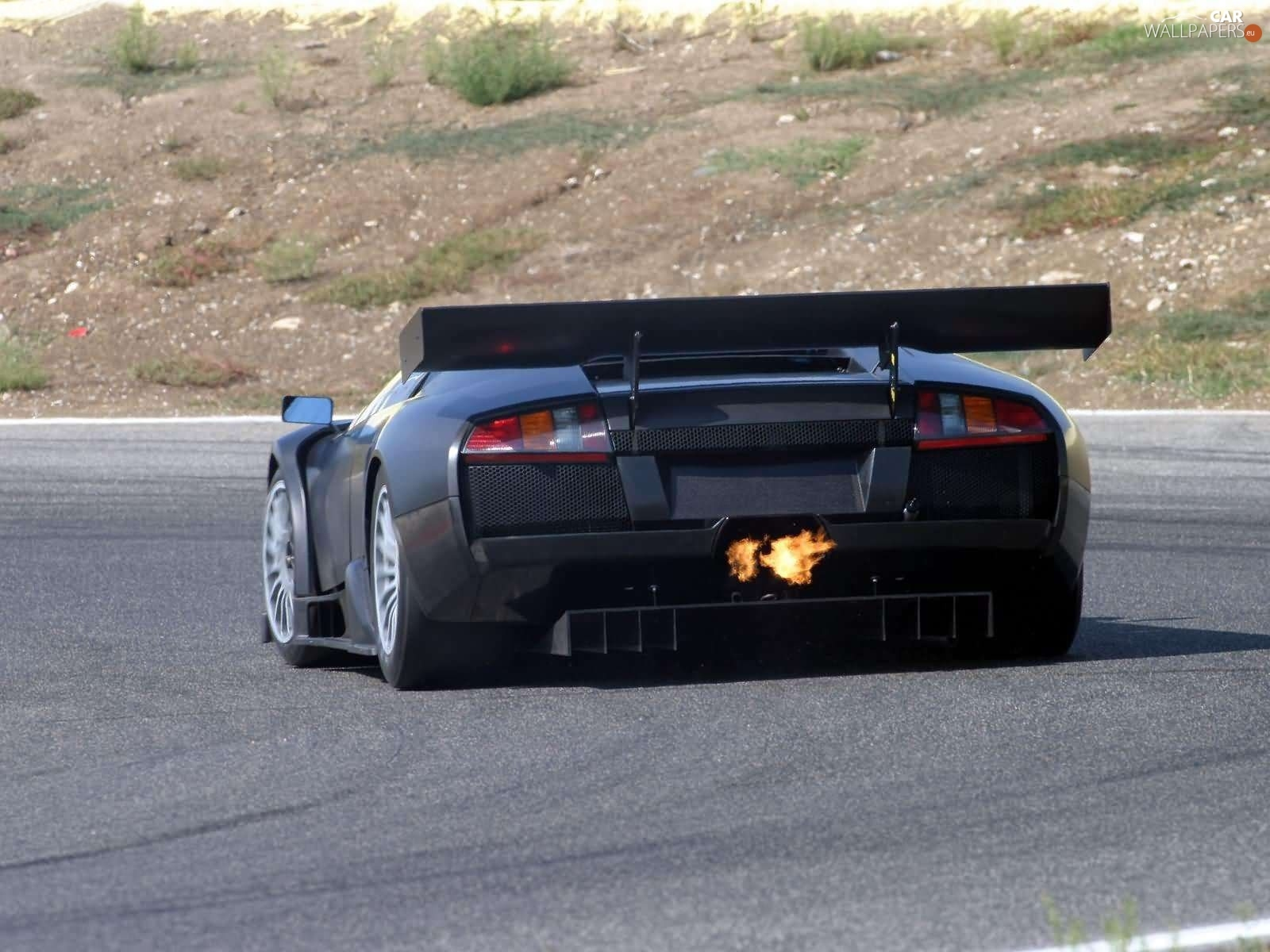 Lamborghini Murcielago Tube Exhaust Big Fire Cars Wallpapers