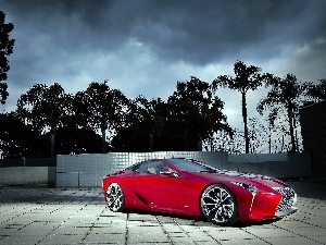 2012, Palms, Lexus, LF-LC, Red