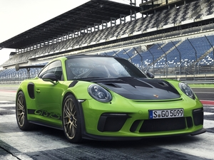 GT3, green ones, 2019, racecourse, RS, Porsche 911