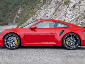 side, Red, Porsche 911 Turbo S