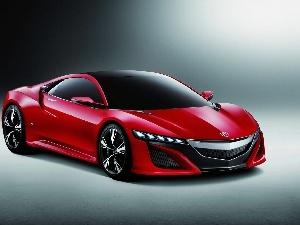 Red, Prototype, Acura NSX