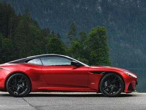 Red, Superleggera, side, Aston Martin DBS