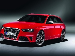 Red, RS4, AVANT, Audi