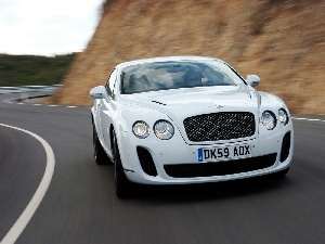 White, Bentley Continental GTC