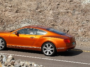 rocks, Bentley Continental, @