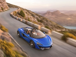Way, blue, McLaren 570S Spider