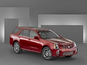Red, shields, brake, Cadillac SRX