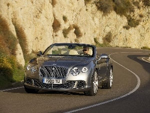 headlights, Bentley Continental GTC, bumper