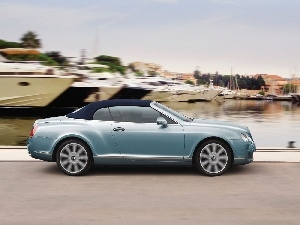 the roof, Bentley Continental GTC, canvas