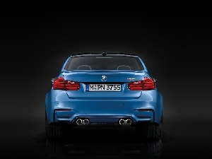 Blue, Back, Exhaust Pipes, BMW M3