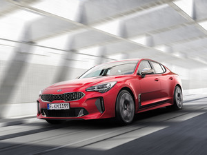 2018, red hot, Kia Stinger GT