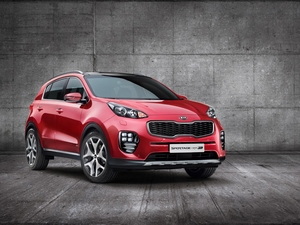 2017, red hot, Kia Sportage GT Line