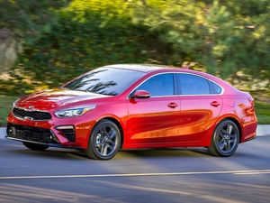 red hot, 2019, side, Kia Forte