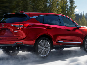 red hot, Back, side, Acura RDX