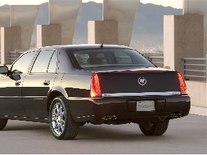 Cadillac DTS, Back, silencer, Lamps