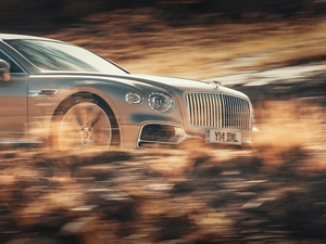 fuzzy, background, Limousine, Front, Bentley Continental Flying Spur